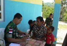 Pengobatan Massal Satgas Yonif Linud 503 Mayangkara.