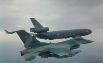 Ferry Flight F-16C TNI AU.