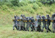 Batalyon Komando 466 Paskhas menggelar Latihan PHH dalam rangka kesiapan pengamanan pasca Pemilu Presiden dan Wakil Presiden 2014