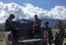 Patroli perbatasan di tanah Papua