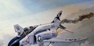 F-4 Phanthom II yang dipiloti Duke. Pesawat ini adalah tunlang punggung Amerika di Perang Vietnam.