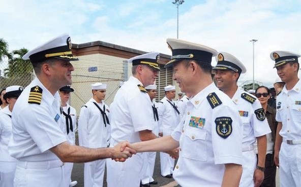 Kungjungan AL China ke Pearl Harbour 12 Oktober 2015.