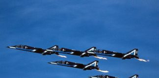 Team Aerobatic Jepang, Blue Impulse dengan T-2 sebagai tunggannya.