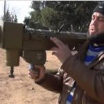 Rudal Panggul FN-6 Buatan China di tangan pemberontak Suriah.