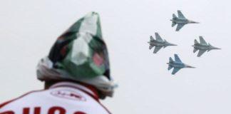 Aksi udara Russia di Suriah.