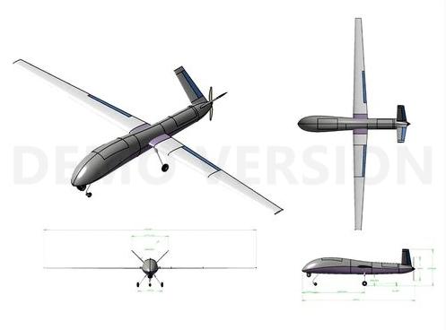 Perkiraan Desain UAV Buatan PTDI