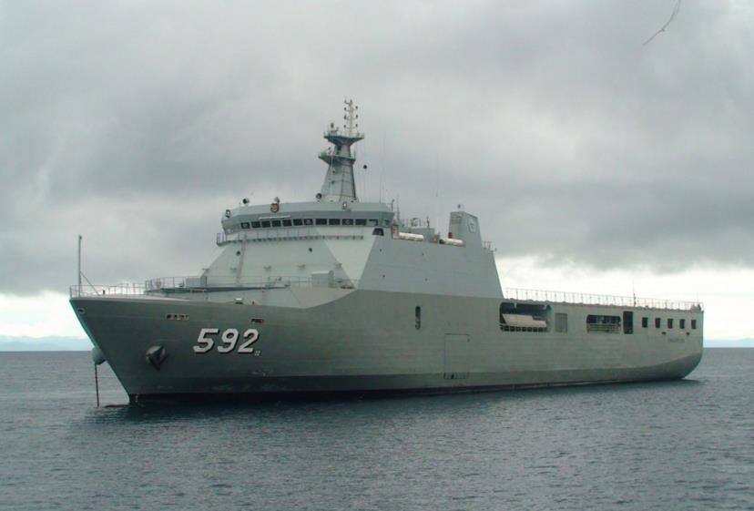 Astillero Río Santiago y Daewoo proponen construir un buque multipropósito para la Armada LPD-KRI-Banjarmasin-592-TNI-AL