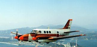 Hadout photos of Japan Maritime Self-Defense Forces' TC-90 training aircraft