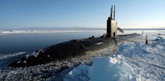Video Kapal Selam Amerika Terobos Samudra Artic