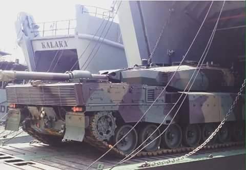 Main Battle Tank Leopard 2 RI berangkat ke Natuna