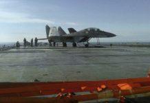 MiG-29K diatas kapal induk Kuznetsov