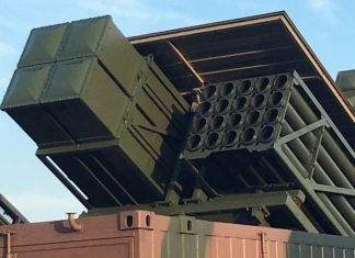 MLRS hide in the container