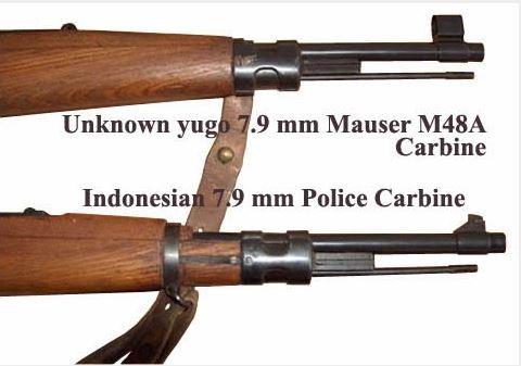 Perbandingan Laras dan bagian depan M48A dengan senapan M48 varian POLRI