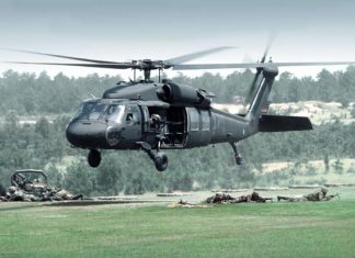 Ilustrasi Helikopter Black Hawk