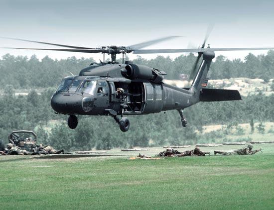 Ilustrasi Helikopter Black Hawk
