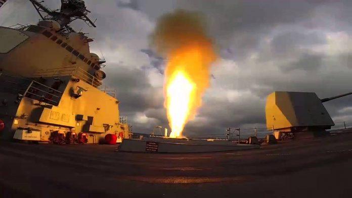 USS Mason Firing SM-2