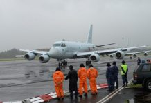 JMSDF Kawasaki P1 Maritime Patrol Aircraft arrived at New Zealand
