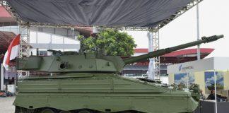 Marder Medium Tank RI dipamerkan pada Indo Defence 2016