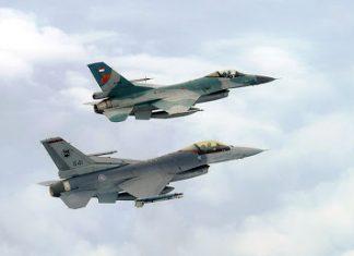 F-16 TNI AU dan RSAF dalam Elang Indopura 2016