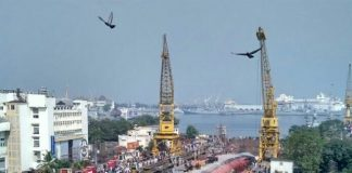 INS Betwa Slipped at Dock