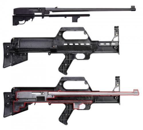 Muzzelite Bullpup Converter - Ruger Mini 14 Rifle Polda Kepri