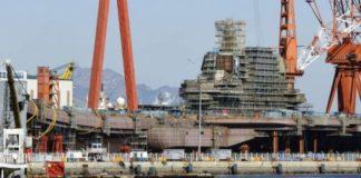 Penampakan Kapal Induk Type 001A Buatan China