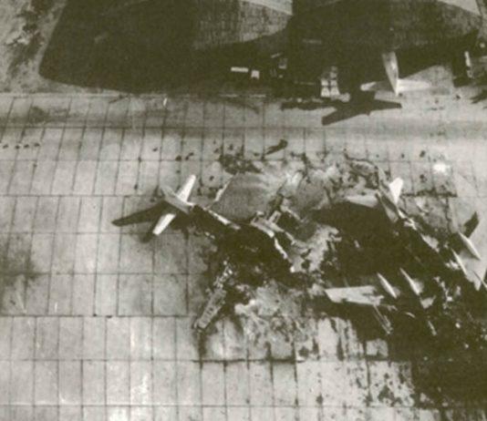 Hasil serangan Sayeret Mat'kal di Beirut pada Operation Gift, 14 Pesawat hancur.