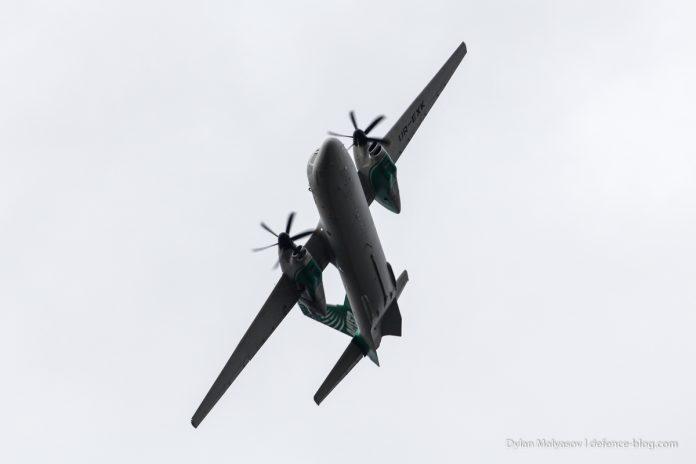 An132D saat melaksanakan penerbangan.