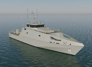 Gambar Konsep kapal patroli pasifik kelas Guardian buatan Austal.