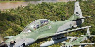 Super Tucano AU Brazil Tembak Jatuh Pesawat Pengangkut Kokain