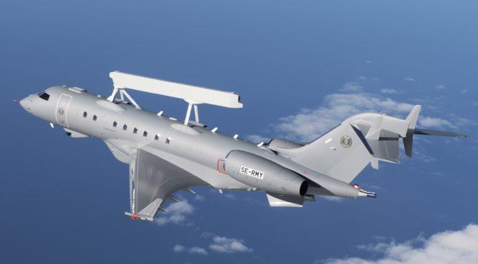 Pesawat Pengintai SAAB Global Eye Sukses Laksanakan Penerbangan Perdana