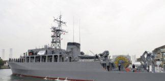 Pasukan Bela Diri Maritim Jepang Resmikan Kapal Penyapu Ranjau Baru