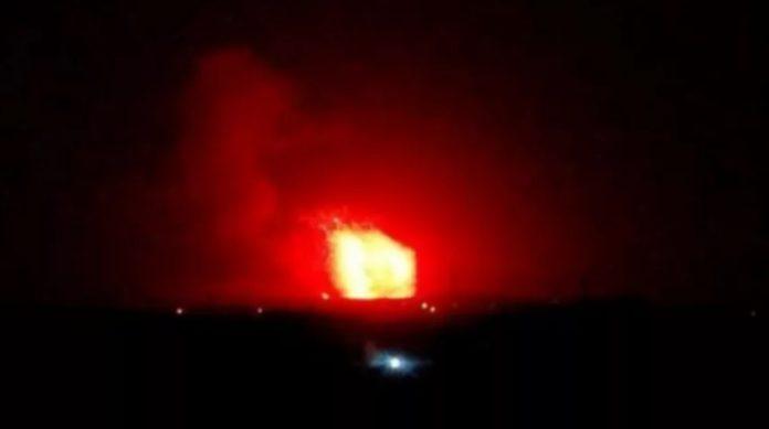 Foto ledakan akibat serangan Israel yang beredar di Sosial Media iran. Sumber: Twitter
