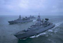 Mengenal Sachsen Si Fregat Garang Dari Jerman. Keseluruhan 3 Unit Kapal Perang Jenis Fregat Kelas Sachsen Sedang Dalam Pelayaran.
