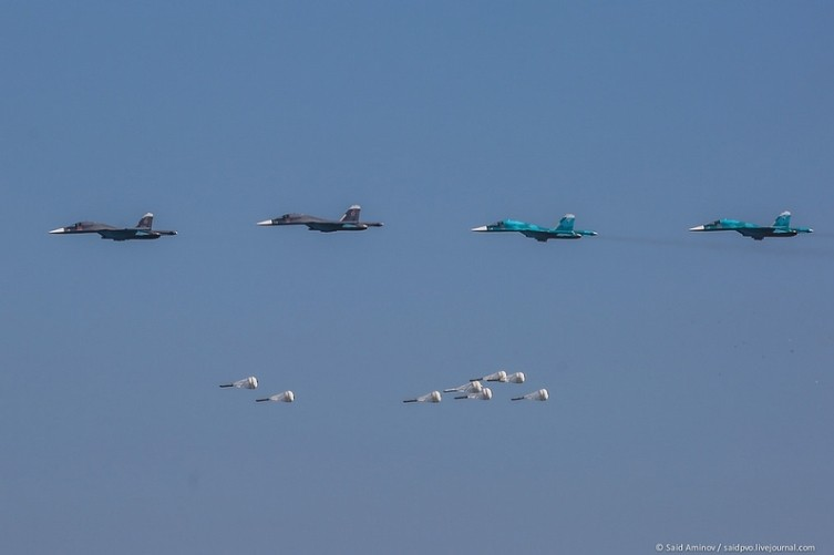 Sequence Bombing Run Su-34 Fullback