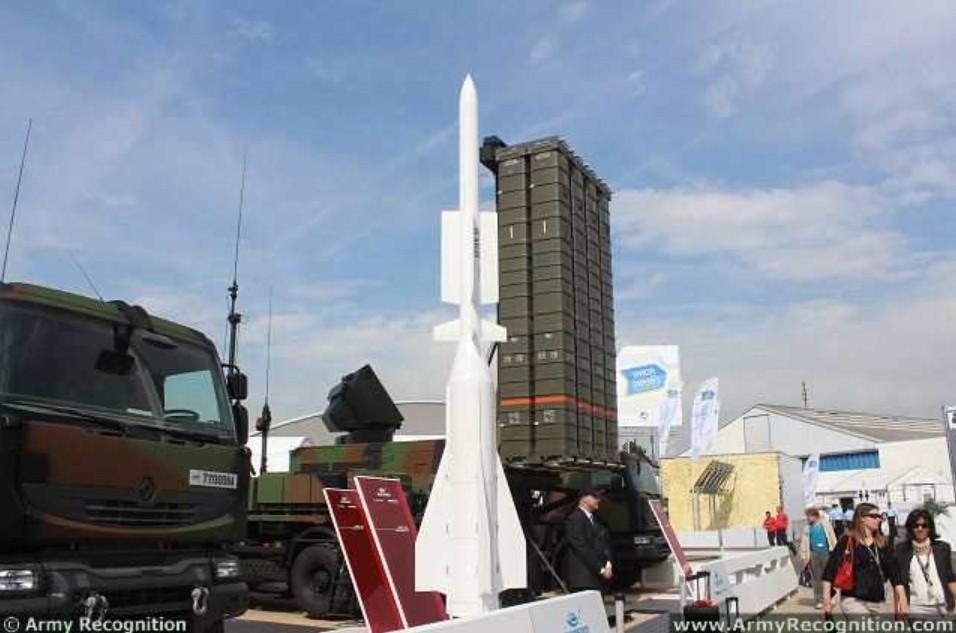 Tinggi Rudal Aster 30 Block 1 yang dijadikan sebagai pemukul di SAMP/T MAMBA