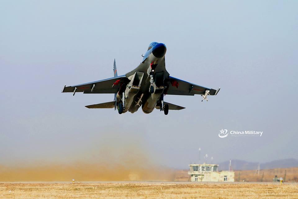 Foto foto J-11, Copy Su-27SK Flanker dari China