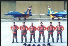Agus Supriatna, Salah satu dari penerbang Tim Aerobatic Elang Biru TNI AU