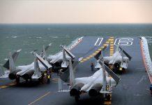 J-15. Pesawat tempur China yang berbasis di kapal induknya