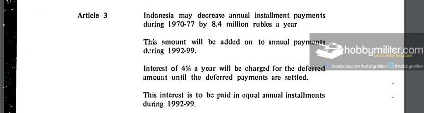 Penyelesaian Hutang Pembelian Alutsista Era 60-an Indonesia Kepada Uni Soviet