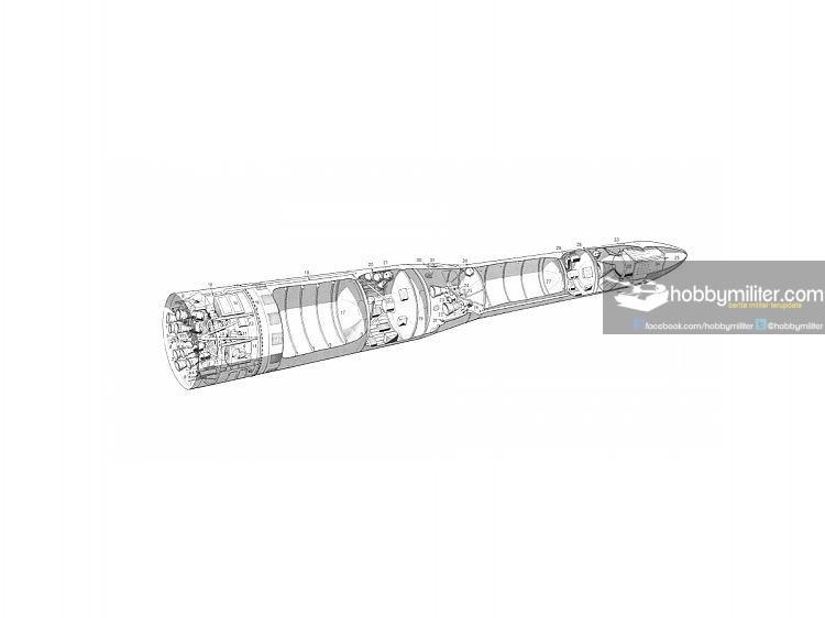 Soviet Lunik 2 Cutaway Drawing